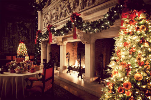 Biltmore candlelight christmas evenings visitors for Exclusive christmas decorations