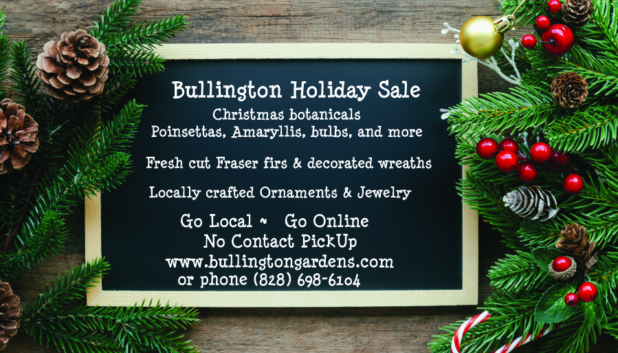 Bullington Gardens Virtual Holiday Craft and Greenery Sale