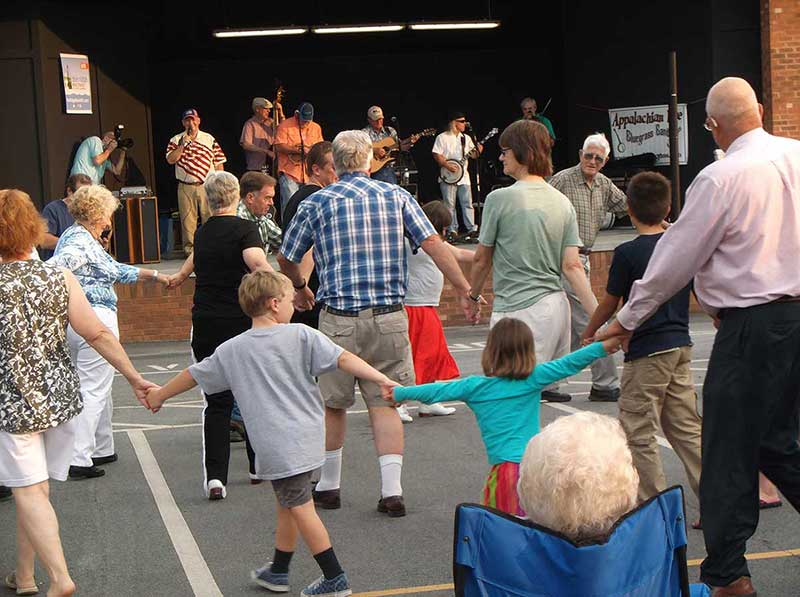 Street Dances features Bobby & Blue Ridge Tradition / Southern Connection Cloggers