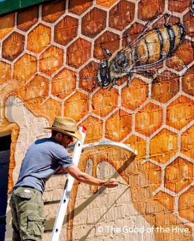 Bee Downtown!  (See the Bee Mural Being Painted Outdoors)